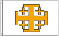 Jerusalem Cross 5x3 Flag Medieval Christian Crusaders