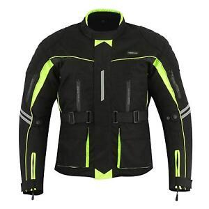RIDEX HIVIS Motorbike Motorcycle Waterproof CJ6 Jacket Protection