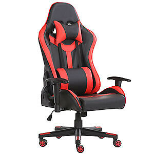 Computer Gaming Chair Swivel High Back Ergonomic Racing Leather Office Red New