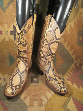 Vintage Justin Exotic Snake Skin Leather  Cowboy Western Womens Boots Size 7.5 B