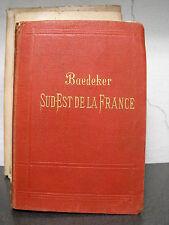 LE SUD-EST DE LA FRANCE - MANUEL DU VOYAGEUR par KARL BAEDEKER - 1910   (b5)