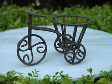 Miniature Dollhouse FAIRY GARDEN Furniture ~ Rustic Iron Bicycle ~ NEW