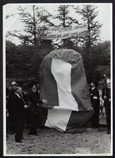 █ Ancienne photo 68 SEPPOIS LE BAS inauguration monument Groupe Mobile d'Alsace