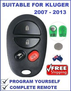 REMOTE FOB Suitable for TOYOTA KLUGER  2007 2008 2009 2010 2011 2012 2013