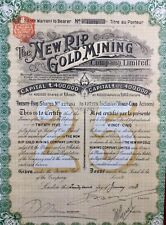 Afrique du Sud 1913 Mines d'or Action Share The New RIP Gold Mining Londres