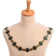 Renaissance SCA Tudor Elizabethan Livery Chain Collar Of Office Green Necklace