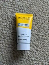 Acure Brightening Facial Scrub- All Skin Types- Travel Size 1 fl. oz./SEALED