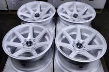 """15"""" Wheels Honda Civic Accord Scion xA xB Cooper S Mx-5 Miata White Rims 4x100"""