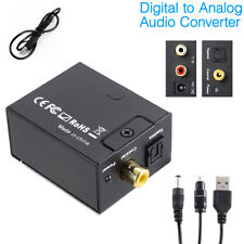 3.5mm Digital to Analog Audio Converter Adapter W/Fiber Cable Optical RCA Out US