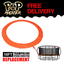 Replacement 10FT Curved Trampoline Spring Cover Pad Round Spare Part - Orange