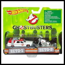 HOT WHEELS GHOSTBUSTERS ECTO-1 & ECTO-2 BIKE 2 CAR PACK HOTWHEELS
