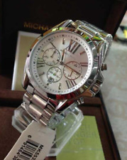 Michael Kors Bradshaw Oversized Unisex Chronograph Watch Silver-tone