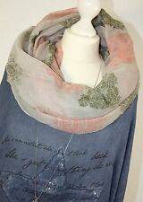 XXL LOOP Rundschal ORNAMENT Taupe Braun WOW Schal Tuch SCARF IT Fashion H/M-301