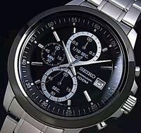 Seiko Mens Black Dial Chronograph Bracelet Watch - SKS451P1. New In Box. 104