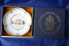 ROYAL CROWN DERBY KEDLESTON HALL QUEENS GADROON L/E SWEET DISH ORIGINAL BOX/CERT