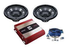 """Kenwood Two KFCW112s 12"""" Subwoofers w/ Amplifier XPA2100 & Wiring Kit Package"""