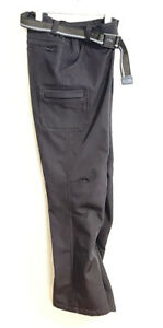 Boys Size M (10-12) Black Fleece Lined Ski Pants with Belt & Pockets Unbranded