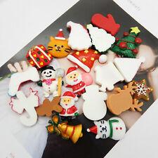 20PCS Mixed Resin Christmas Santa Snowman Flatback Cab Decor DIY Accessories