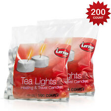 Tea Light Candle White Unscented Set of 200