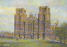 Wells Cathedral, Somerset England, Church St. Andrew United Kingdom Art Postcard