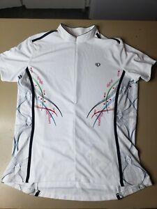 Pearl Izumi Select Series Womens White 1/4 Zip Casual Cycling Jersey Top Sz 2XL
