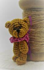 More details for mini/miniature thread crochet artist bear . doodles 4cms