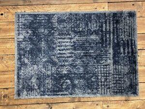 Doormat Mayfair Supersoft Microfibre Washable Vintage Black 70cm x 50cm SALE