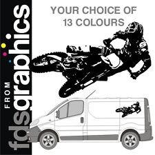 960mm x 600mm freestyle motocross van sticker/decal