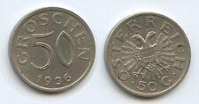 G8074 - Österreich 50 Groschen 1936 SEHR RAR KM#2854 1. Republik 1918-1938