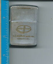 A-137 - E.J Smith and Sons Advertising Zippo Lighter 1968 Standard Size Vintage