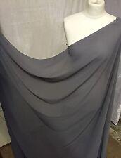 """1 MTR GREY GEORGETTE BRIDAL DRESS CHIFFON FABRIC...58"""" WIDE"""