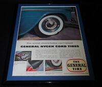 1955 The General Tubeless Tire Framed 11x14 ORIGINAL Vintage Advertisement