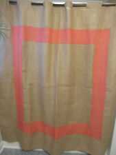 Buckhead Betties Jute Shower Curtain with Coral Accent