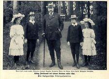 König Ferdinand (von Bulgarien) mit seinen Kindern Historische Aufnahme von 1908