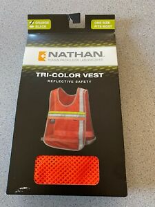 NATHAN Tri-color REFLECTIVE SAFETY Vest 2001NO Orange