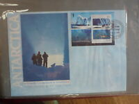 AUSTRALIA 1990 AAT JOINT ISSUE USSR 2 STAMP MINI SHEET DAVID FIRST DAY COVER