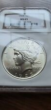 More details for 1923 $1 ms 65 ngc peace silver dollar coin - ngc ms-65