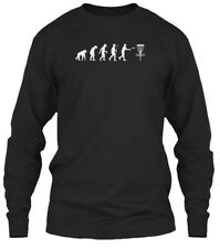 Evolution Disc Golf White Gildan Long Sleeve Tee T-Shirt