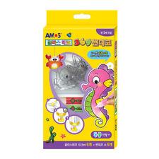 Amos Glass Deco Animal Decoration Magic Art Craft Kits - 6 Colours 6 Suncatchers