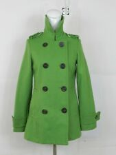dELiA's Womens Green Peacoat Size S  Double Breasted Wool Blend