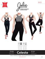 Jalie 3672 Celeste Open-Back V-Waist Unitard Women Girls Sewing Pattern 2 Views