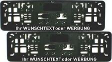 2x Kennzeichenhalter KURZ 46 cm mit WUNSCHTEXT Nummernschildhalter Beschriftung