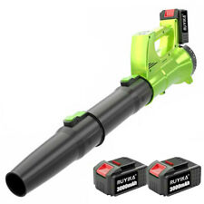 More details for ruyika 21v cordless leaf garden grass snow dust blower 2 batteries 3.0a charger