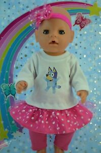 "Play n Wear Dolls Clothes For 17"" Baby Born SKIRT~LEGGINGS~TOP~HEADBAND"