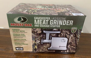 Weston Mossy Oak GameKeeper® #12 Electric Meat Grinder and Sausage Stuffer New