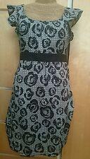 Top Shop tea dress black & white print size 10wedding / summer / garden party