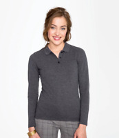 SOL'S Ladies Perfect Long Sleeve Piqué Polo Shirt