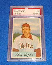 1954 Bowman Stan Lopata Card #207 PSA 7 Phillies