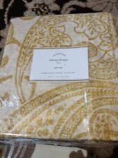 Pottery Barn Set 2 Elena Drape Yellow Gold 50x108L Curtains Pair Sheer Palampore