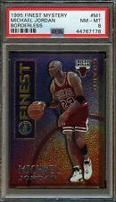 1995 Topps Finest Mystery Michael Jordan Borderless #M1 PSA 8 NM- MINT. Bulls